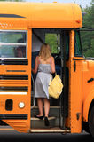 Premier jour d'école Images libres de droits