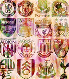 Premier League. Retro-style badges of some English Premier League Football Clubs Royalty Free Stock Images