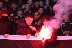 Premier League ucraina: Dinamo Kyiv v Shakhtar immagine stock libera da diritti