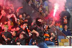 Premier League ucraina: Dinamo Kyiv v Shakhtar fotografia stock