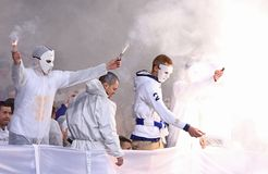 Premier League ucraina: Dinamo Kyiv v Shakhtar fotografia stock libera da diritti