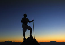 Premier lever de soleil de montagne Photo libre de droits