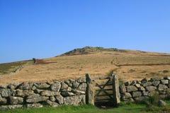 Premier massif de roche sur Dartmoor Photos stock
