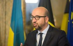 Premier ministre belge Charles Michel Images libres de droits