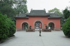 Premier ministre temple de Kongming Images stock
