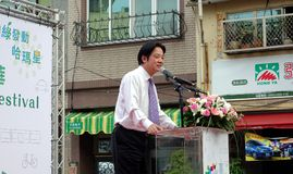 Premier ministre William Lai Speaks de Taïwan Images libres de droits