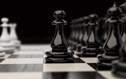 Premier mouvement dans la partie d'échecs illustration stock