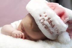 Premier Noël de Babys Photos libres de droits