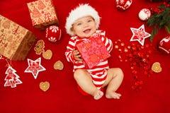 Premier Noël de chéri Photographie stock libre de droits