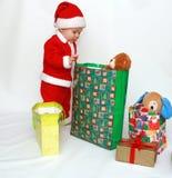 Premier Noël de petit â du père noël Photos libres de droits