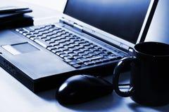Premier ordinateur de genoux Photographie stock libre de droits