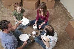 Premier repas dans la nouvelle maison Image libre de droits