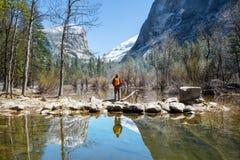 Premier ressort dans Yosemite Image libre de droits