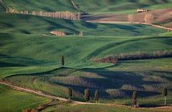 Premier ressort en Toscane, l'Italie Photographie stock libre de droits
