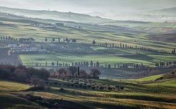 Premier ressort en Toscane, l'Italie Images libres de droits