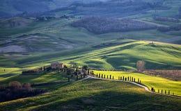 Premier ressort en Toscane, l'Italie Photo stock