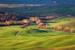Premier ressort en Toscane, l'Italie Images stock