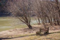 Premier ressort le long de la rivière Susquehanna Images libres de droits