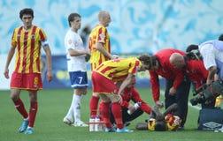 Premier russo League di gioco del calcio Immagini Stock
