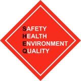Premier - signe de SHE&Q - vecteur de sécurité illustration stock