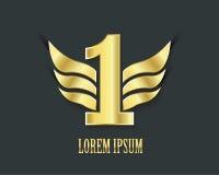 Premier symbole de place Conception d'or numéro un Image libre de droits