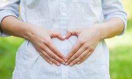 Premier trimestre de grossesse, signe d'amour Images stock