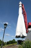 Premier vaisseau spatial Vostok dans Kaluga Image libre de droits