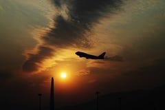 Premier vol le matin Image stock
