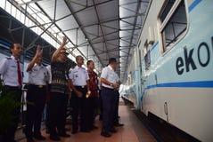 Premiera Ambarawa pociągu ekspresowego podróż Fotografia Stock