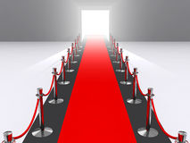 Premiere. A red carpet premiere concept Stock Photos