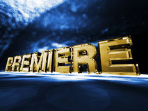 Premiere. The word Premiere on a colorful background Stock Image