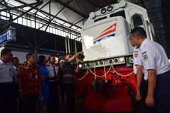The premiere of Ambarawa express train journey Royalty Free Stock Photos