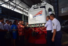 The premiere of Ambarawa express train journey Stock Images
