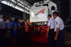 The premiere of Ambarawa express train journey Royalty Free Stock Image