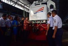 The premiere of Ambarawa express train journey Stock Photos