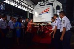 The premiere of Ambarawa express train journey Royalty Free Stock Photo