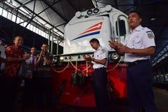The premiere of Ambarawa express train journey Stock Photography
