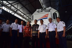 The premiere of Ambarawa express train journey Royalty Free Stock Images