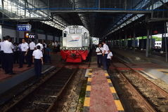 The premiere of Ambarawa express train journey Stock Photos