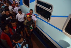 The premiere of Ambarawa express train journey Royalty Free Stock Photography