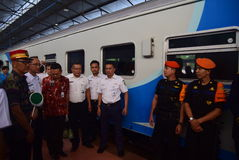 The premiere of Ambarawa express train journey Royalty Free Stock Image