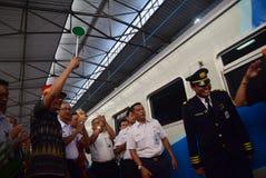 The premiere of Ambarawa express train journey Stock Photo