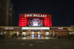 the premiere cinema Zoo Palast in Berlin by night Stock Photo