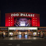 the premiere cinema Zoo Palast in Berlin by night Royalty Free Stock Photography