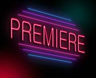 Premiere concept. Stock Images