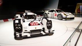 Premiere Genf 2014 Porsches 919 Lizenzfreies Stockbild