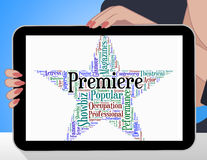 Premiere Star Represents Opening Nights And Perfomance Royalty Free Stock Photos