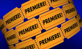 Premiere Tickets New Movie Product Launch Announcement Stock Images