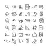 Premiereeks pictogrammen van de bankwezenlijn Stock Foto's