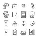 Premiereeks pictogrammen van de strategielijn Stock Foto